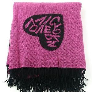 Victoria's Secret Pink and Black Blanket